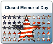 Office Closures for the Memorial Day holiday