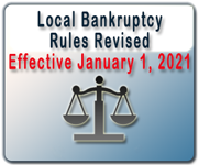 Revised copy of the local bankruptcy rules available - effective January 1, 2016