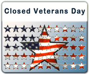 Office Closures for Veterans Day