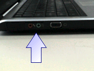 Image of Location of Audio Jacks on Laptop