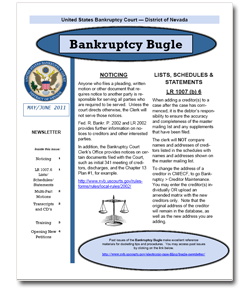 Bankruptcy Bugle Cover Page