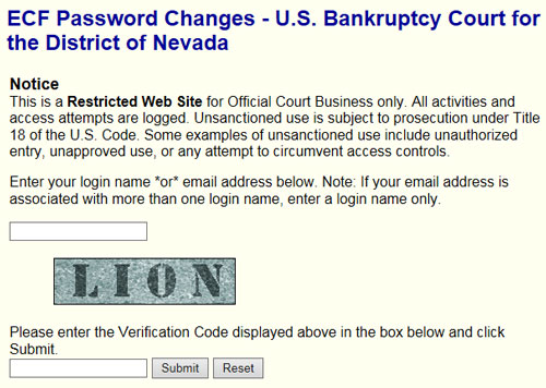 Cmecf password us bankruptcy court district of nevada cmecf password submit screen thecheapjerseys Choice Image